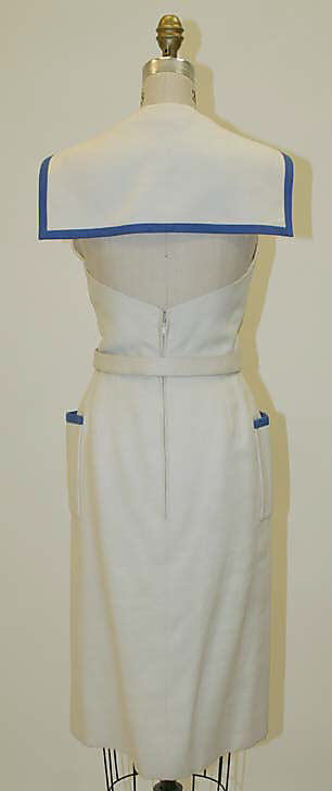 Dress, Traina-Norell  (American, founded 1941), Norman Norell, 1954, linen, silk, Metropolitan Museum of Art