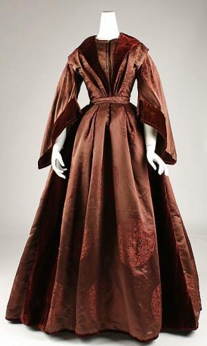 Dress, ca. 1850, British, silk, Metropolitan Museum of Art