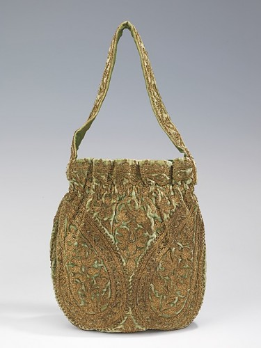 Evening bag House of Lanvin  (French, founded 1889) Designer- Jeanne Lanvin (French, 1867–1946), 1925–35, French, silk, metal, Metropolitan Museum of Art