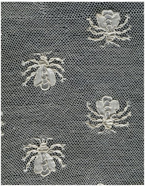 Fichu, Alençon, France, ca. 1805-1810, Needle lace worked in linen thread on a net ground, V&A