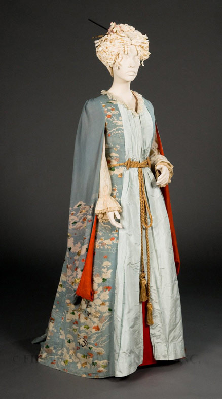 Furisode Kimono-Style Dressing Gown, c. 1885, Silk, FIDM Museum