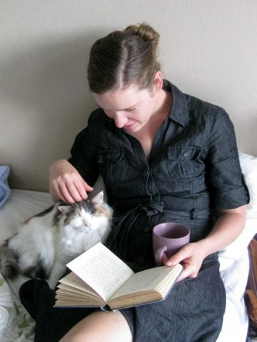 Sometimes Fiss and I just need to cuddle with a cup of tea and a good book