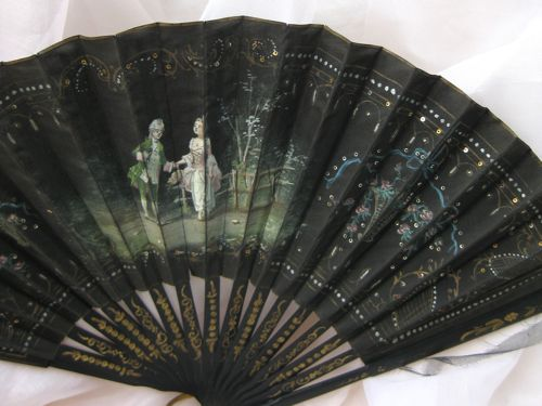 Late 19th/early 20th century Rococo revival fan