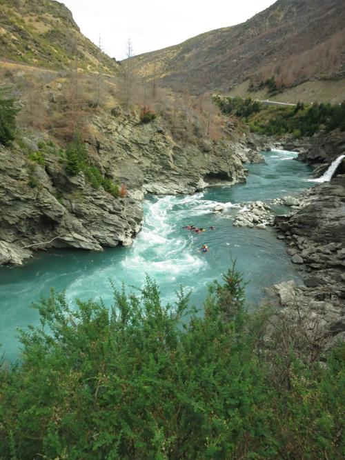 River boarding near Queenstown, South Island, New Zealand