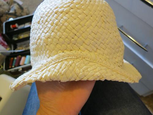 Sewn down back fold