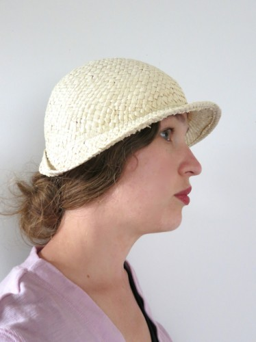 The cloche with sewn down back fold