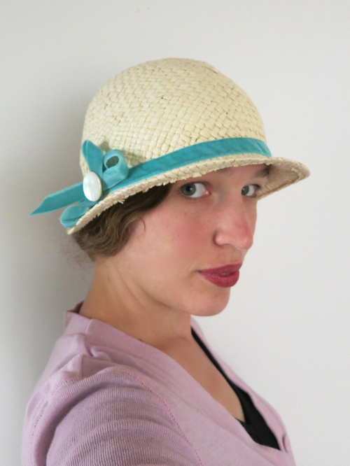 The trimmed cloche hat