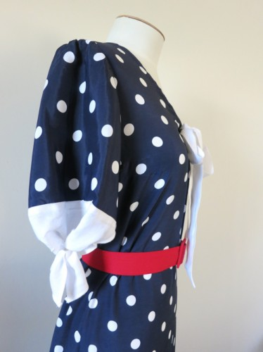 The Spotty Not-Quite Nautical 1930s frock thedreamstress.com