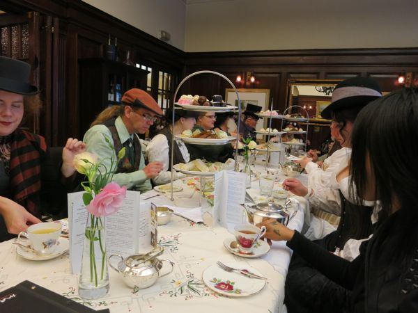 Steampunk afternoon tea thedreamstress.com