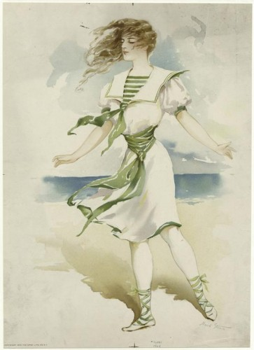 Woman on the beach, Maude Stumm, 1904 NYPL Digital Collection