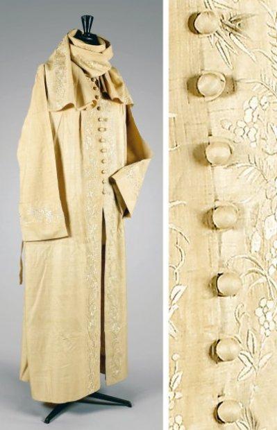 Paul Poiret, ca 1920 Coat, sold by Beaussant Lefèvre
