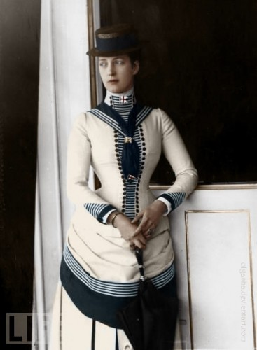 Princess Alexandra in a sailor suit, 1880s