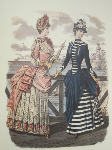 Fashions for the seaside, ca 1884