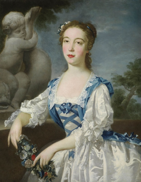 Portrait of a Lady, thought to be the Hon. Anne, eldest daughter of Sir Jacob de Bouverie, 1st Viscount Folkestone ca. 1740-45 Bartholomew Dandridge