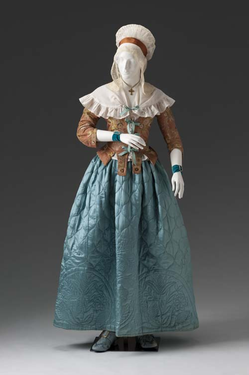 Caraco circa 1780, quilted Petticoat circa 1770-1780, Mint Museum