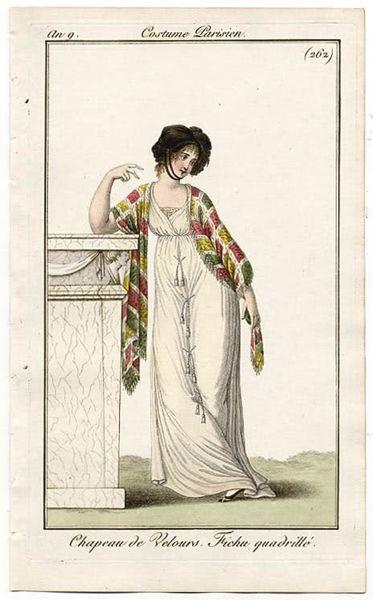 Chapeau de Velours, Costume Parisiene