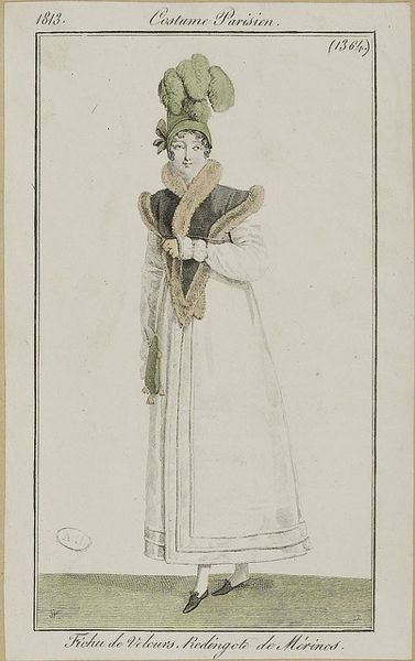 Fichu de Velours, Redingote de Merinos, Costume Parisiene