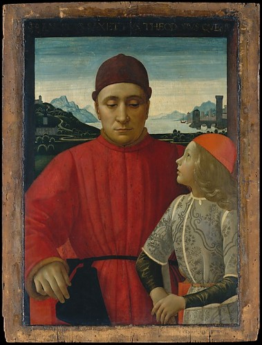 Francesco Sassetti (1421–1490) and His Son Teodoro Domenico Ghirlandaio (Domenico Bigordi)   ca. 1488, Metropolitan Museum of Art