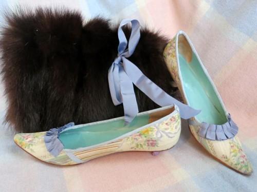 ca. 1790 shoe remake thedreamstress.com