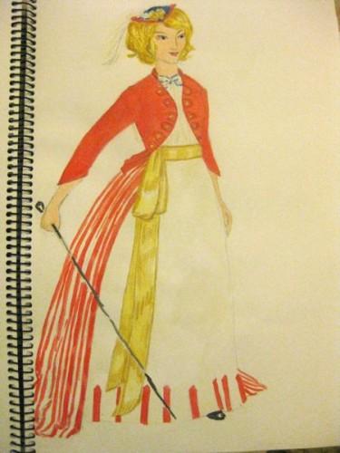My original Polly / Oliver inspiration sketch