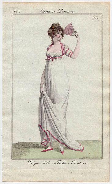 Peigne d'Or, Fichu, Costume Parisiene