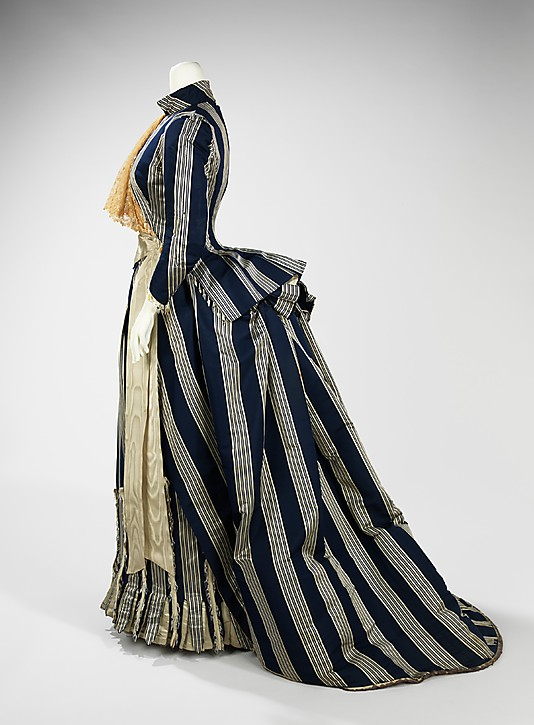 Walking dress, House of Worth, ca. 1885 Metropolitan Musuem of Art