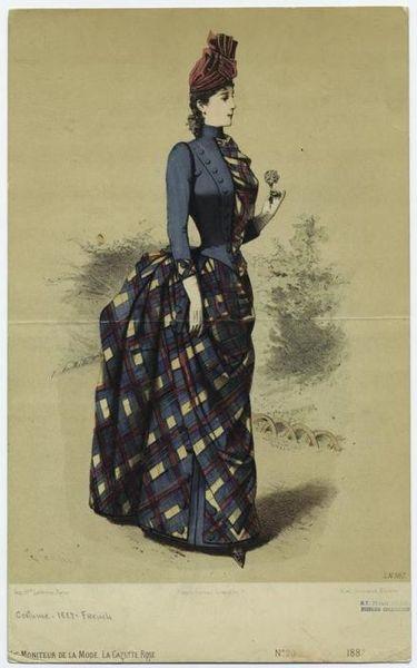 Walking dress, 1887