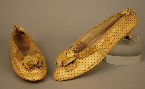 Shoes of spotted leather, 1790-1800 Whittaker Auctions