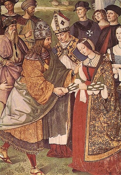 Aeneas Piccolomini Introduces Eleonora of Portugal to Frederick III by Pinturicchino. 1502-1507