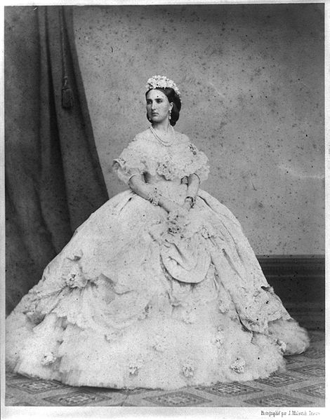 Carlota of Mexico. Photograph by J. Malovich.  Date	1864