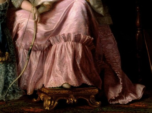 Charlotte of Mecklenburg-Strelitz by Ramsay, 1765 (detail)