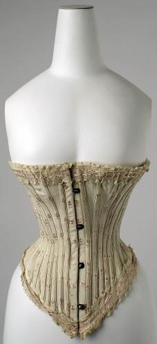 Corset, 1890s, French, silk, Metropolitan Museum of Art