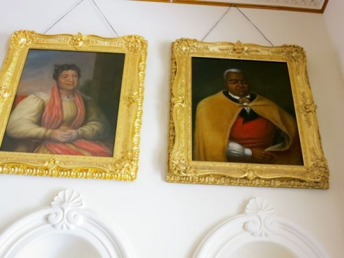 Kamehameha the Great and one of his Queens, 'Iolani Palace