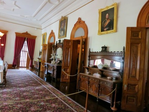 Grand furniture in the Dining Room, 'Iolani Palace