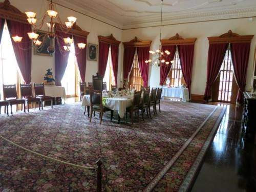The Dining Room from the doorway of the Blue Room, 'Iolani Palace