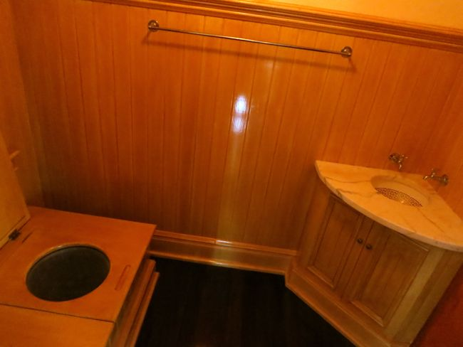 An indoor toilet just off one of the downstairs reception rooms, 'Iolani Palace
