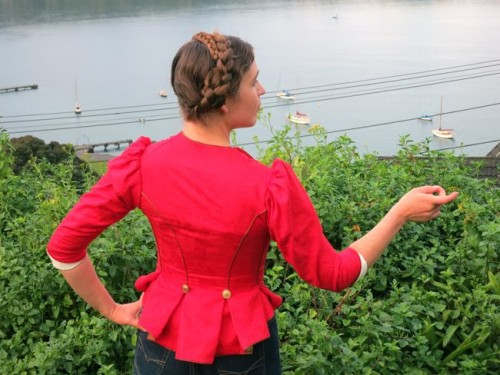 The 1880s does 18th century Polly / Oliver jacket thedreamstress.com
