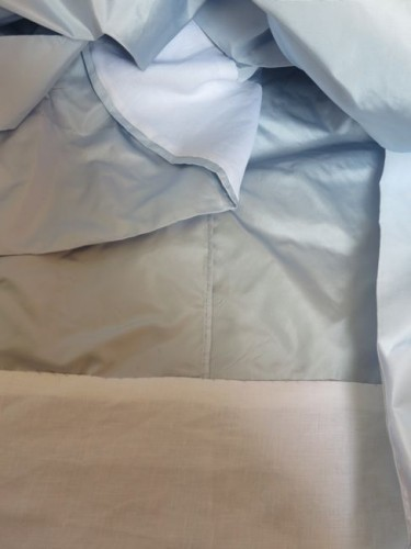 Interior seams and linen hem