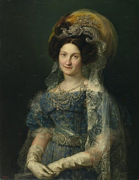 María Christina of the Two Sicilies, Queen of Spain by Vicente López y Portaña (1772–1850), 1830, Collection of the Prado Museum