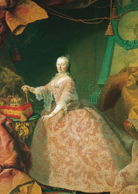 Maria Theresia of Austria at the Age of 35 (1752:1753), by Martin van Meytens, Schönbrunn Palace, Vienna