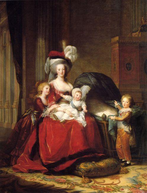 Marie Antoinette & Children, 1783, Vigee Le Brun