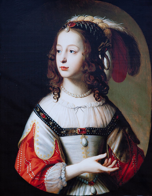 Sophie of the Palatinate, electress of Hanover, ca. 1645, by an unknown artist