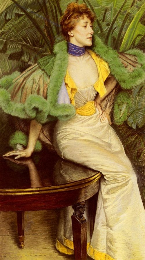 The Princesse De Broglie, James Tissot, 1895, pastel on linen, sold by Sotheby's in 2011