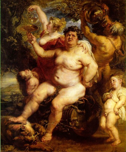 Bacchus, Peter Paul Rubens, 1640, oil on canvas