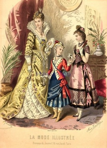 Fancy dress, 1877, La Mode Illustree