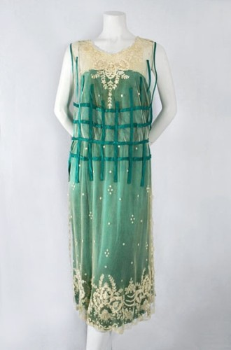 Chiffon & lace dress, French, c.1923, from the Vintage Textile archives