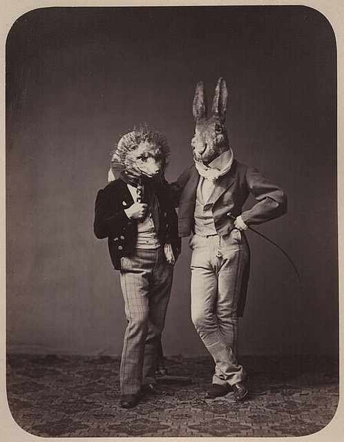 Fancy dress costumes, Germany, 1860s