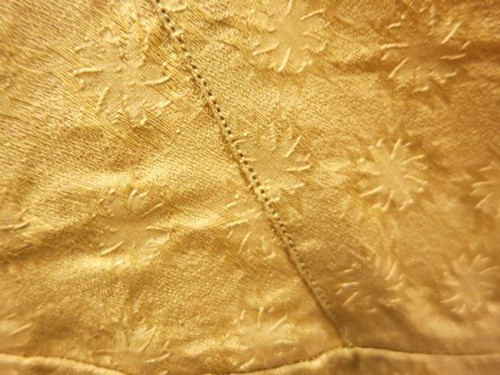 Dress, 1st quarter of the 19th century (with alterations), detail of fabric, Honolulu Museum of Art