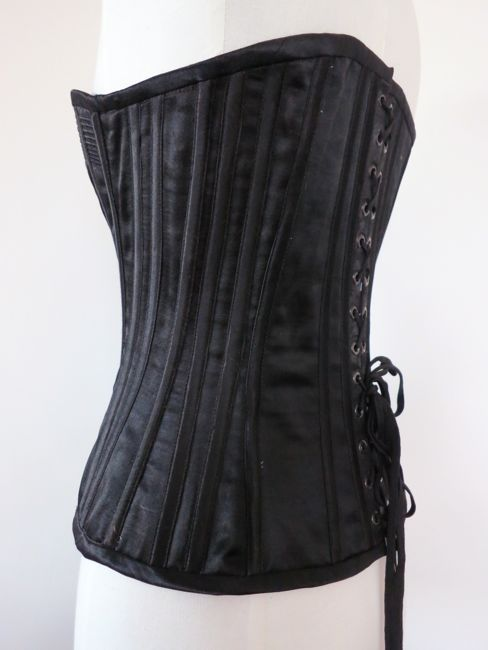 1890s 'Midnight in the Garden' corset thedreamstress.com