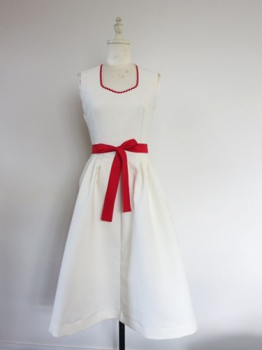 Red & white 1950s sundress thedreamstress.com